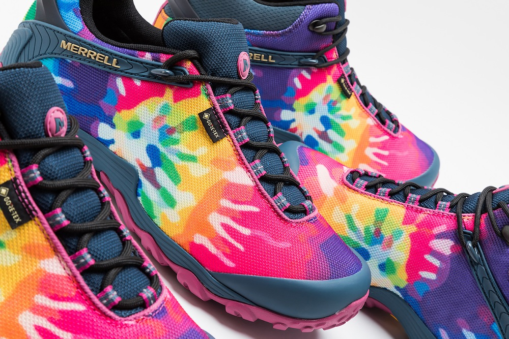 "MERRELL's new Tie Dye masterpiece ""Chameleon""! Perfect to kick off the festival season!"