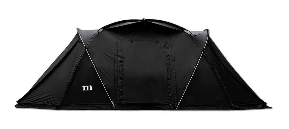 Muraco's first large tent is now on sale! This jet black 2 room tent has excellent customization and extensibility!