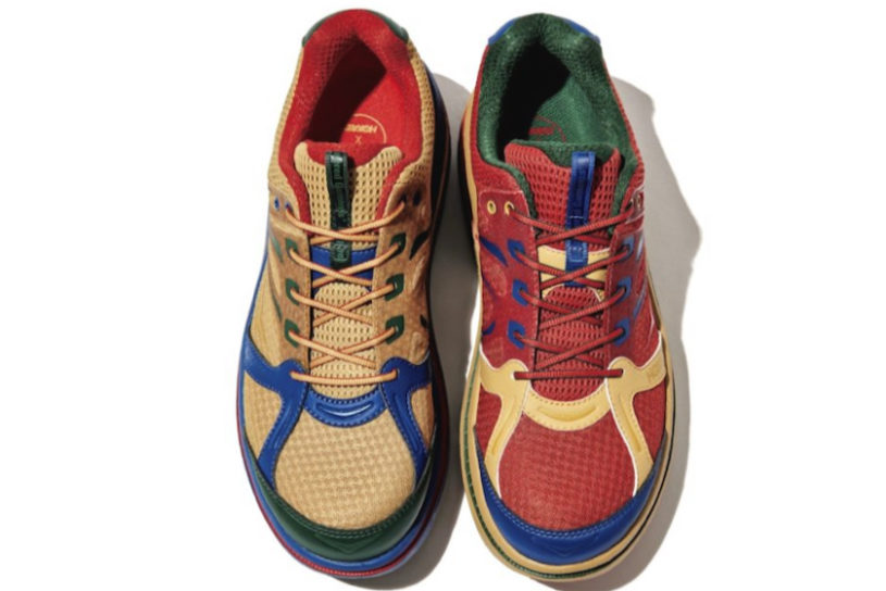 The third popular collaboration between Engineered Garments and Hoka One One is focused on bright multicolor!