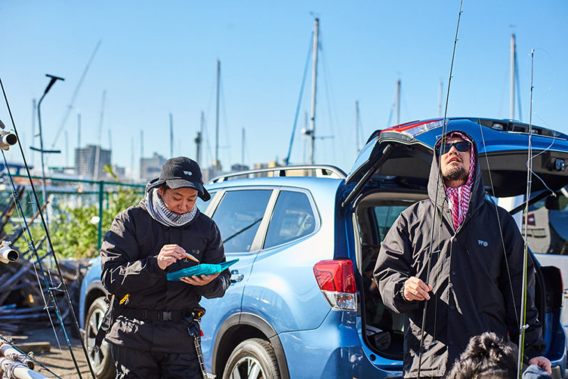 Urban fishing with a forester. On the hunt for a monster lurking in Tokyo Bay.