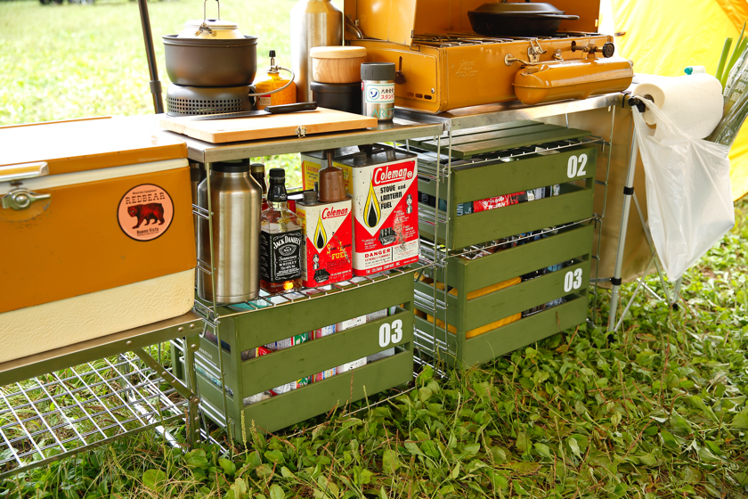 Organizing campsites. Taking a look at the storage tech used by real campers.