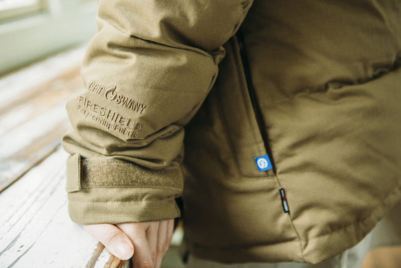 From the garage to the camp. A gorgeous winter item from Gordon Miller x Gripswany.