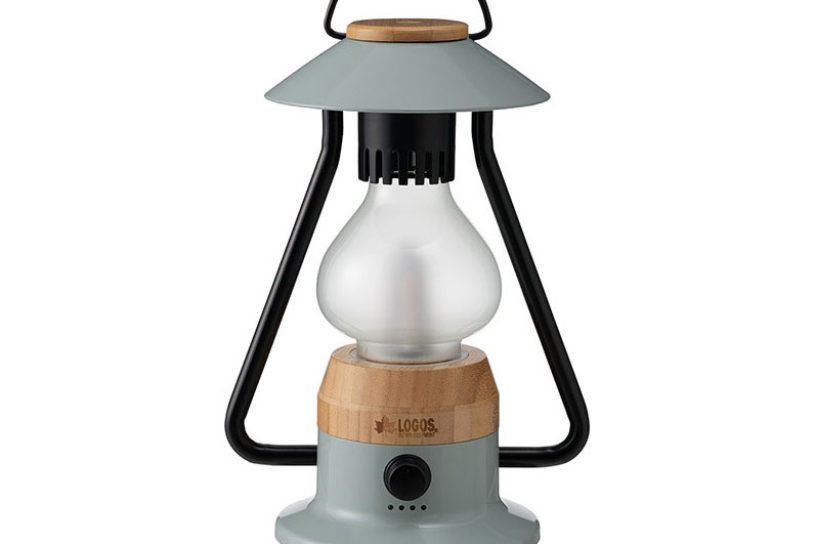 Logos' LED lantern with a retro-modern design using bamboo!