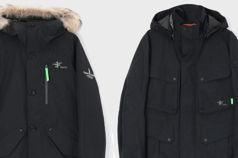 2 functional Gore-Tex jackets from Foxfire and Psycho Bunny.