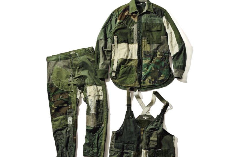 H.R.Remake's patchwork wear recreates military fabrics with hidden features and gimmicks!