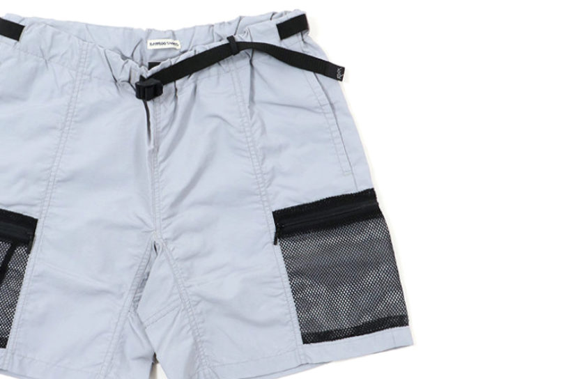 New shorts from ROKX and BAMBOO SHOOTS. The zippered mesh pockets are great for using outdoors.