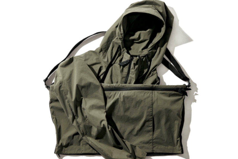 Instantly transform into a pack! An unprecedented convertible jacket from Alk Phenix.