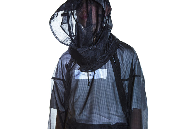 The best so far in insect repellent wear! Stylish Meanswhile mosquito net smock with a high fashion image.