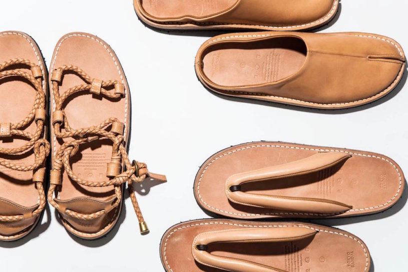 New spring and summer Japanese footwear styles from Tokyo Sandals made from fine leather.