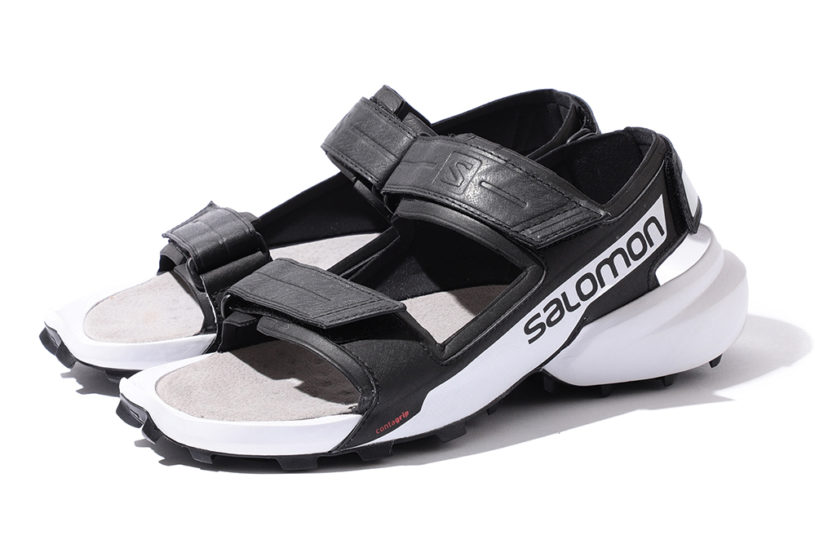 Salomon's high-performance sandals are custom-made for BEAMS with this limited urban, two-tone color.