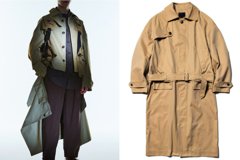 Meanswhile's trench coat that transforms into a blouson with a magical zip.