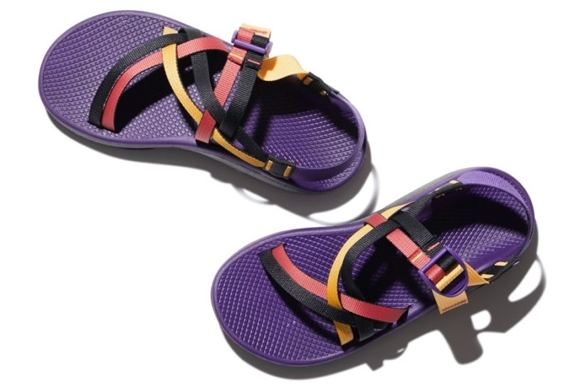 New limited edition sandals from Snow Peak and Chaco featuring retro outdoor coloring.