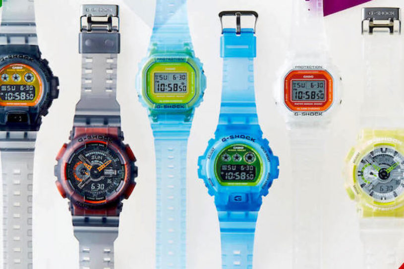 6 new models added to the summer lineup for G-SHOCK that uses skeleton materials.