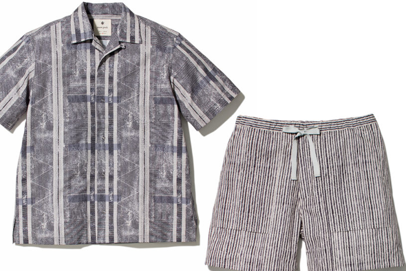 New high-tech aloha shirts from Snow Peak. Comfortable in summer with excellent ventilation!