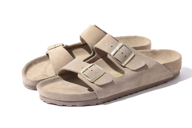 Beams makes a special order for Birkenstock's famous sandals. A mature pair of Full-length suede sandals with a one-tone finish.
