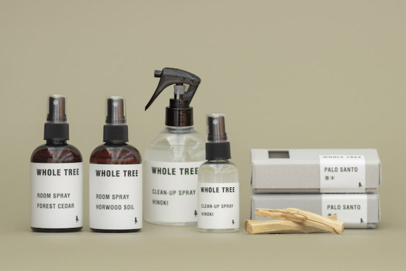 """The new tree focused brand """"Whole Tree"""" has arrived. Naturally-derived items such as sanitizing sprays are available."""