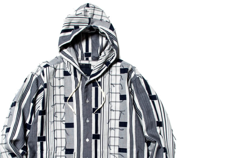 Tough, lightweight and breathable. Meanswhile's new shirt hoodie is made of a special fabric.