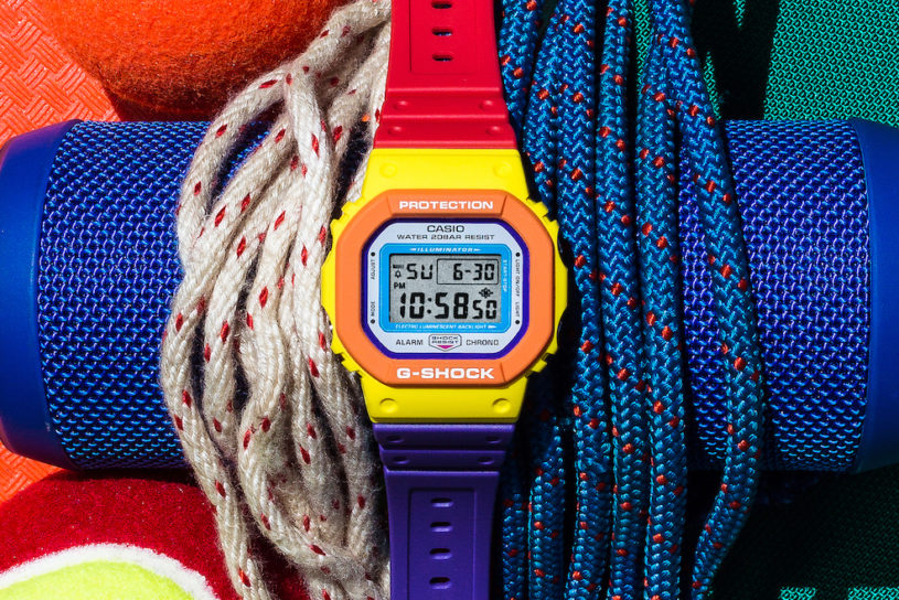 The energetic new G-SHOCK. '90s Multi-colored with outdoor flavor, for the perfect summer mood.