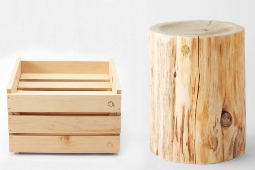 High-quality interior gear from Aomori Hiba to take an use outdoors. The unique features using natural materials are also attractive.