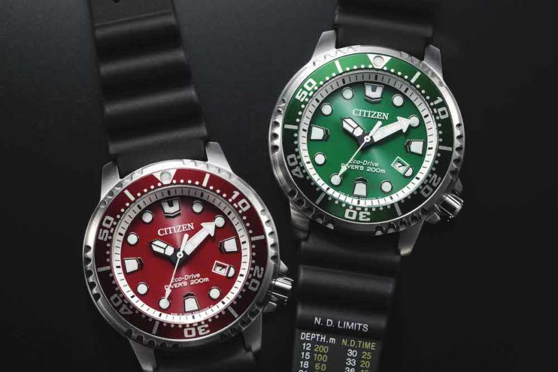 Citizen's masterpiece diver's watch, the ProMaster with vivid color that shines in the summer!
