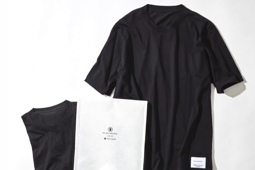 The highest-class pack T by Snow Peak x Inouye Brothers is born. 100% organic.