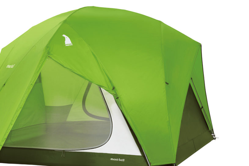 """Ultra-light Montbell masterpiece the """"Moonlight Tent"""". Even the family type is amazingly only 5 kg or less!"""