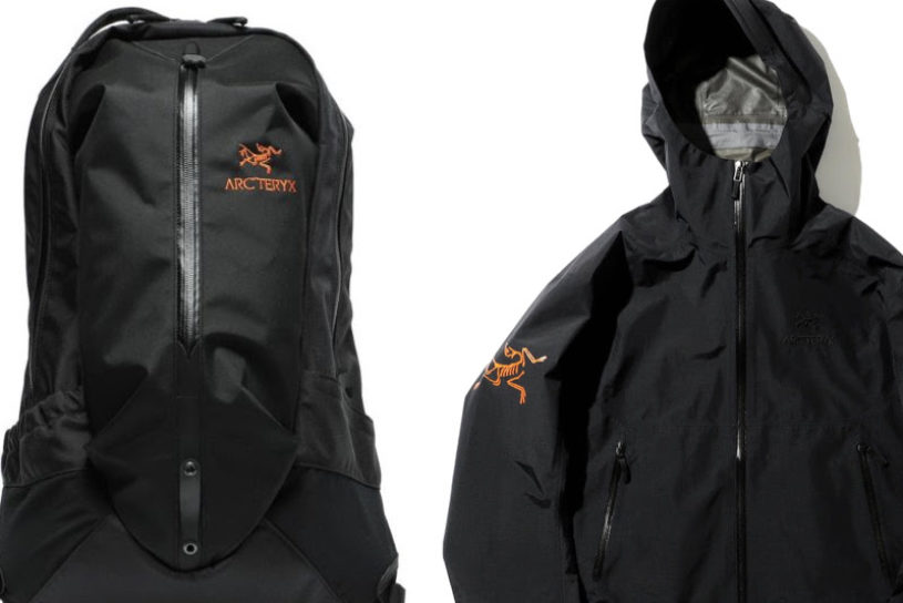 The latest series from Arc'teryx x BEAMS. Featuring the huge old logo on the jet black body!