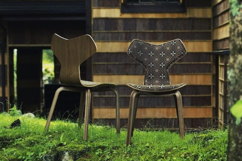 White Mountaineering collaborates with Fritz Hansen. A superb chair with a fusion of Scandinavian and Japanese taste.
