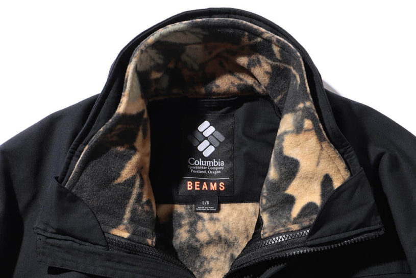 The latest collaboration between Colombia and BEAMS. Classic outerwear with a powerful liner and full pattern camouflage!