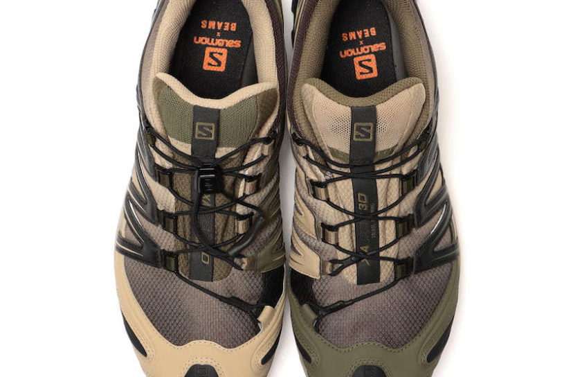 BEAMS bespoke Salomon's bestseller! Tasty footwear finished with camouflage-colored ashes.