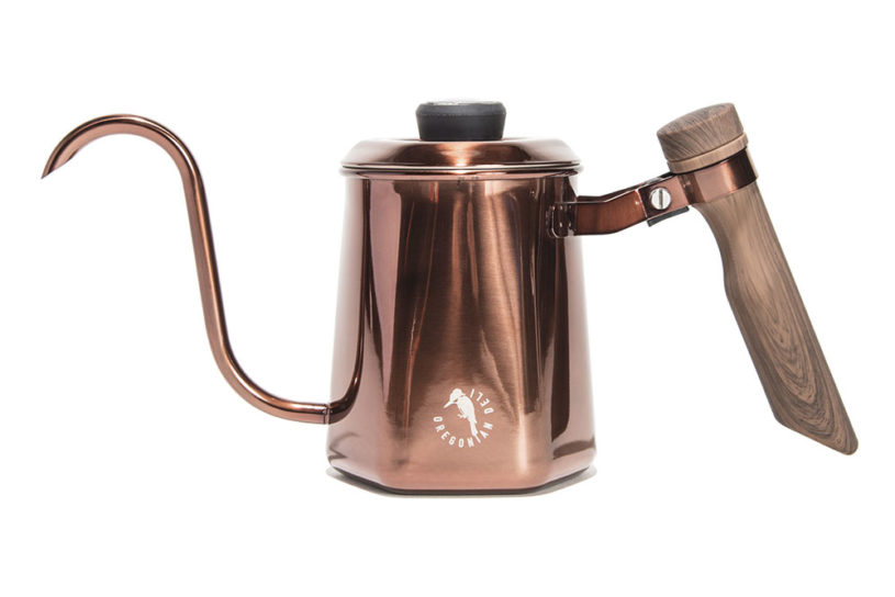 The Oregonian camper's drip pot is a must-see for discerning poeple! Full-scale specifications with a difference making spout and thermometer.