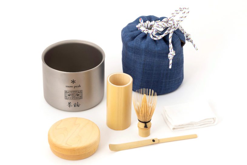 Snow Peak x Nakagawa Masashichi Shoten's outdoor tea ceremony set is back! An evolved version that is a triple collaboration with the tea ceremony brand.
