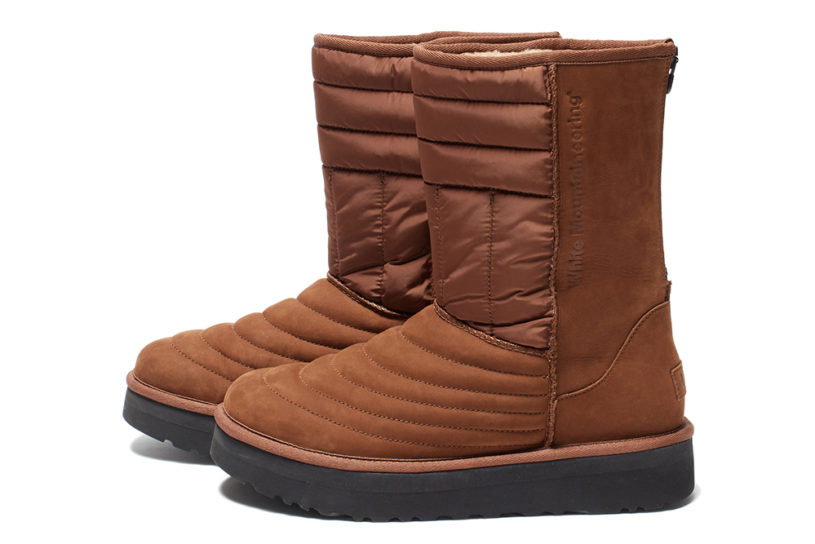 The latest work from UGG x White Mountaineering! Classic boots are dressed in leather and nylon for a mature new facelift.