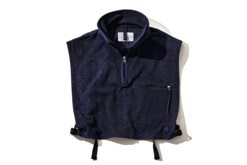 A vest? A neck warmer? A layering game with Nanamica's unique fleece.