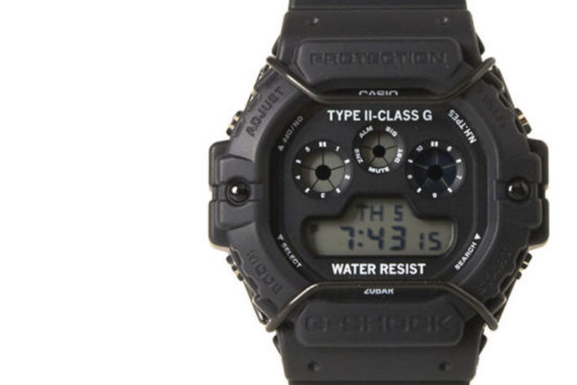 The latest collaboration between N. Hollywood and G-Shock is a tough watch with a combination of a protector and a matte black finish.