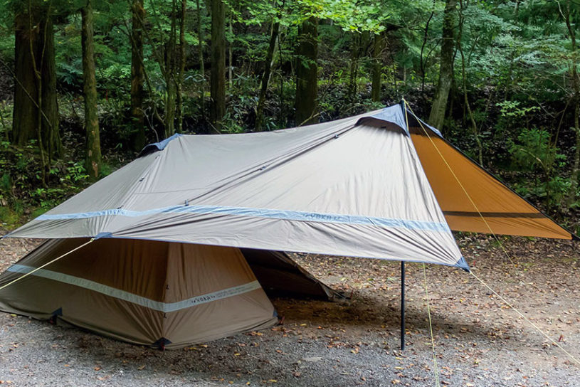 Check out YOKA's first 2 types of tarp that transform into a simple shelter!