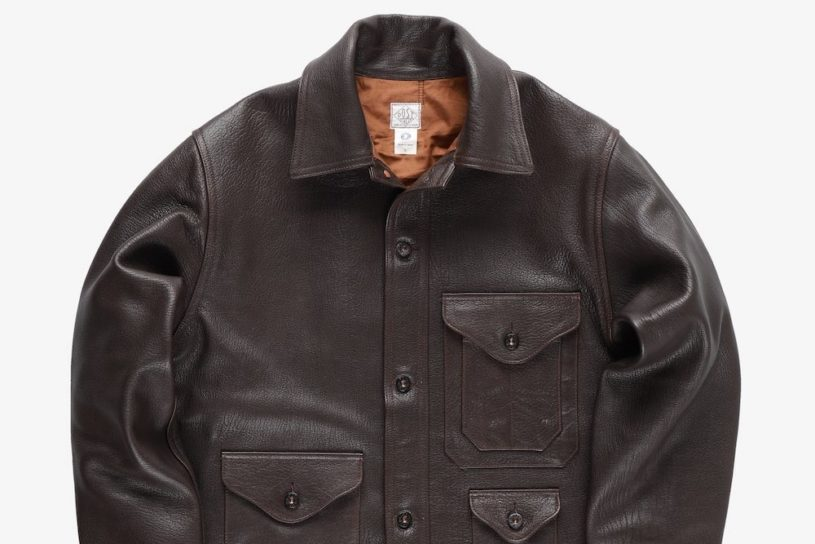 Post O'alls masterpiece logger jacket is reprinted. A jacket for life made from high-quality leather.