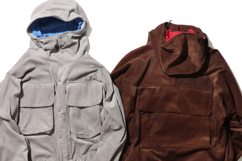A fishing jacket for Autumn and Winter from Cal O Line that uses thick ridge corduroy.