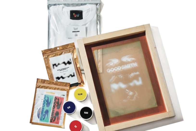 An all-in-one DIY silkscreen kit that allows you to enjoy original prints in the comfort of your own home.