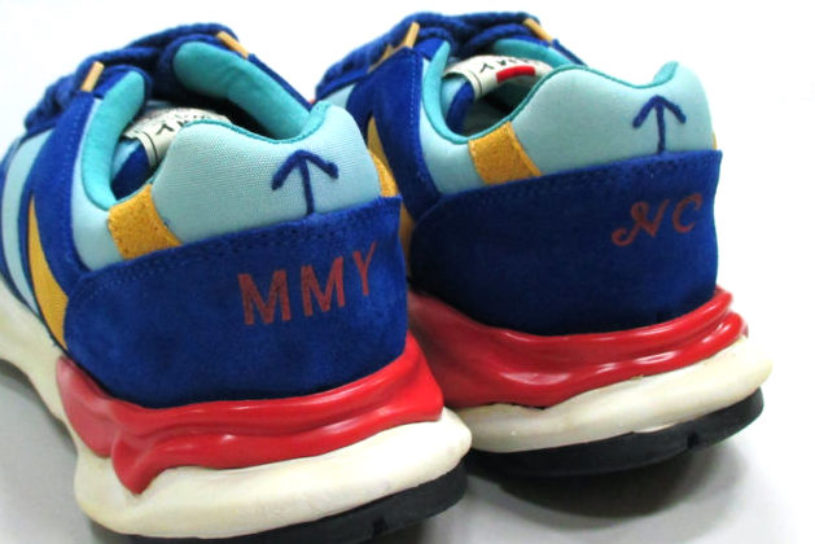 The fifth collaboration between Nigel Cabourn and Mihara Yasuhiro features a crazy-colored, unique running shoe.
