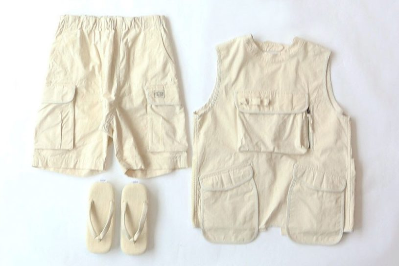 "Snow Peak x JS Relume. ""HOME⇄CAMP"" themed collection made from organic cotton."