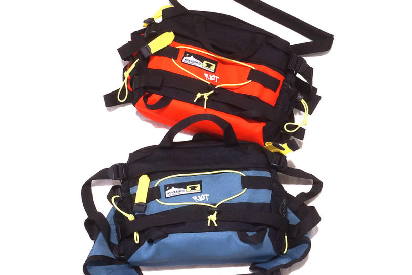 Mountainsmith's classic bag re-imagined in a 90's color scheme! Excellent new collaboration work by Riot Facetasm.