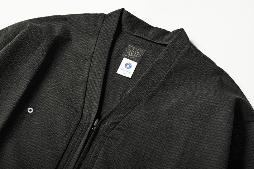 Jet black Japanese style summer top and bottoms set up released by Post O'Alls.