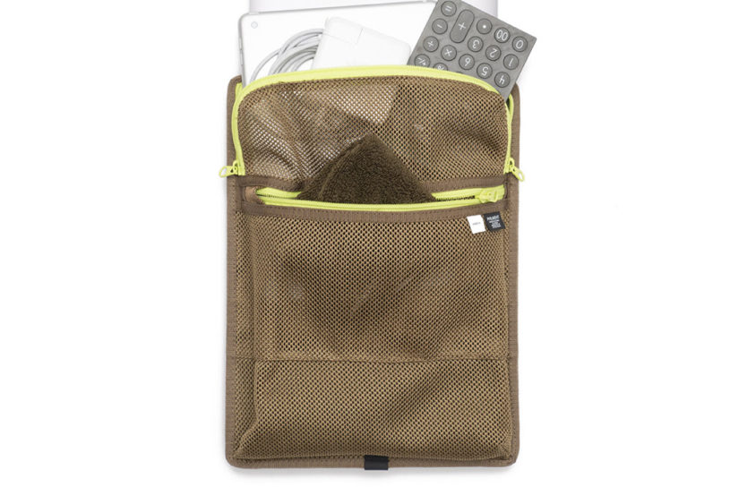 Popular, bespoke, functional PC sleeves from Fresh Service. In a khaki color that fits in with everyday bags.