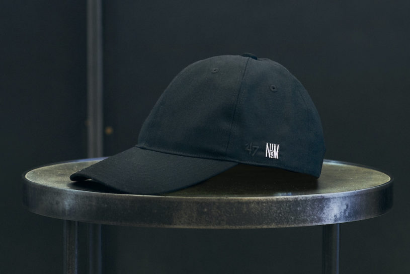 A formal style BB cap that makes fascinating use of fabrics from N. Hollywood Compile and '47.