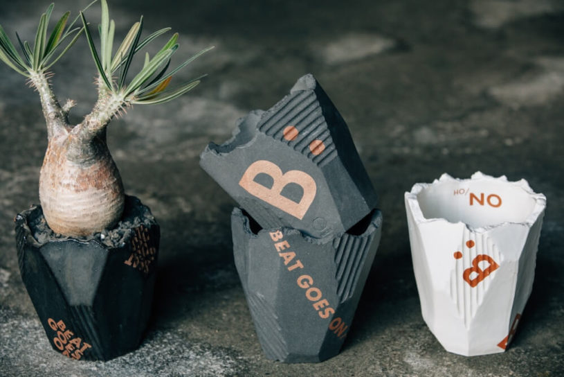 "Pottery brand ""N / OH"" have created an exclusive collection of flower pots with B:MING."