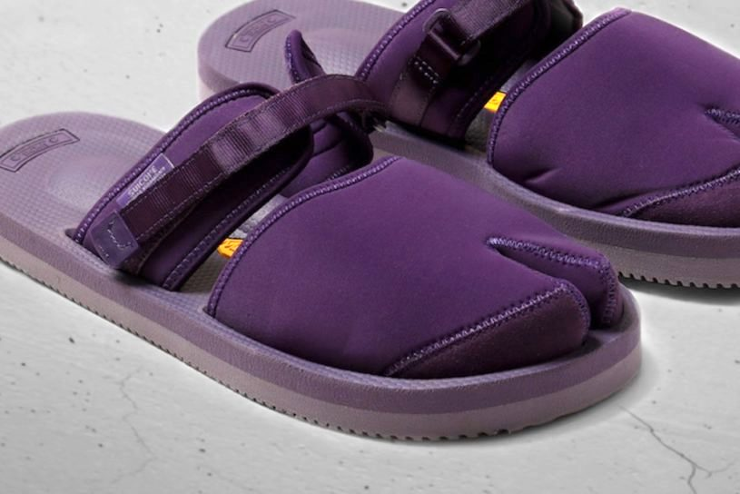 Suicoke Purple Label's popular sandals will be on sale this season in a new purple color!