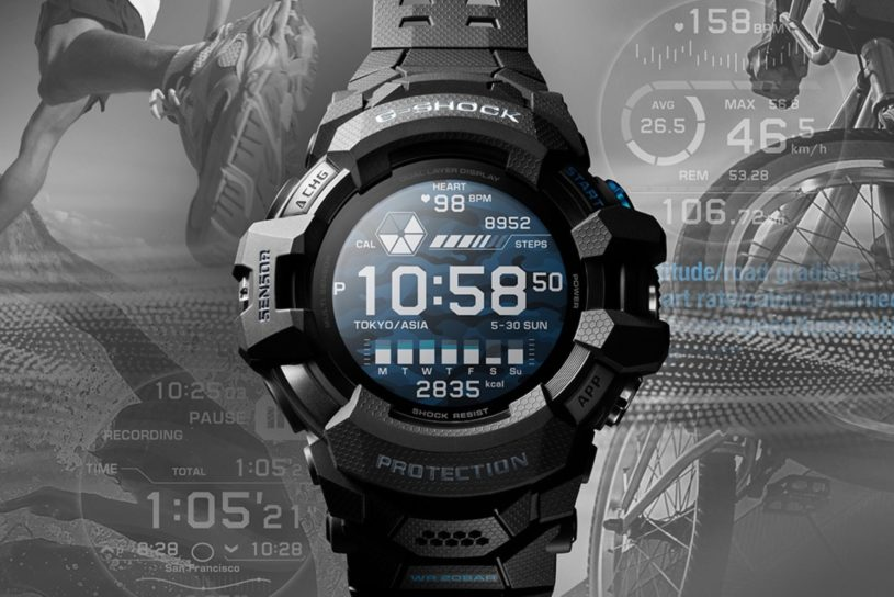 G-SHOCK's first smart watch is born! A Google-linked model that's perfect for workouts.