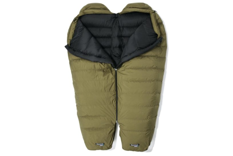The first sleeping bag from sabbatical is based on Nanga's mountain sleeping bag but is connectable and suitable for camp use.