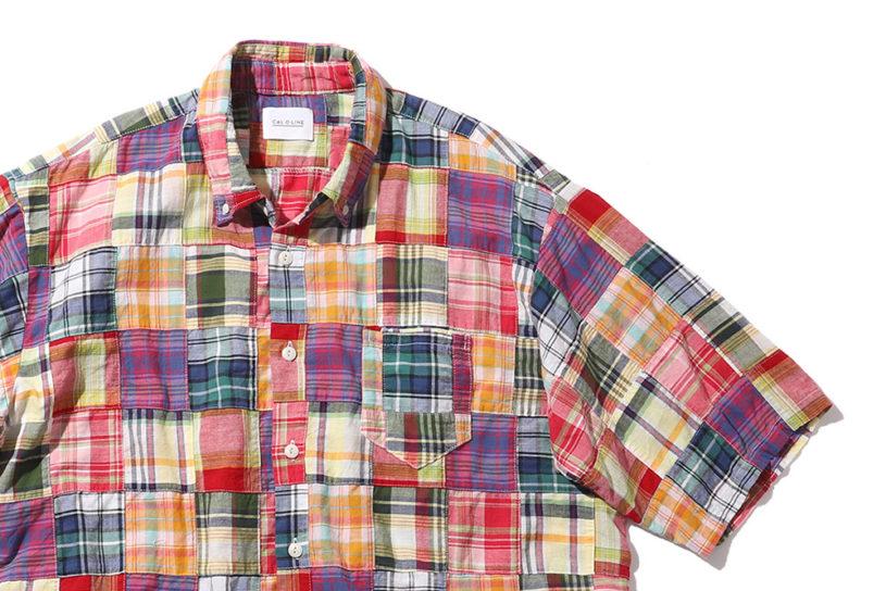 The finest patchwork Madras shirt from Cal O Line x Pilgrim.